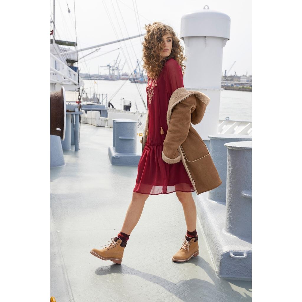 Aniston CASUAL Blusenkleid, mit aufwändig besticktem Vorderteil