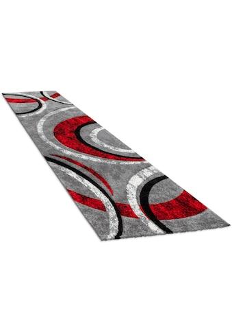 Paco Home Läufer »Brillance 758«, rechteckig, 18 mm Höhe, Teppich-Läufer, Kurzflor, gewebt, mit geometrischem Design kaufen