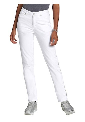 création L Jeans mit seitlich funkelndem Galonstreifen kaufen