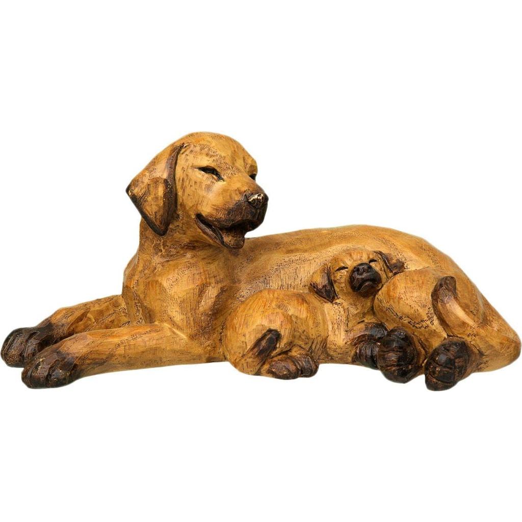 Ambiente Haus Dekofigur »Hund mit Welpe«, liegend