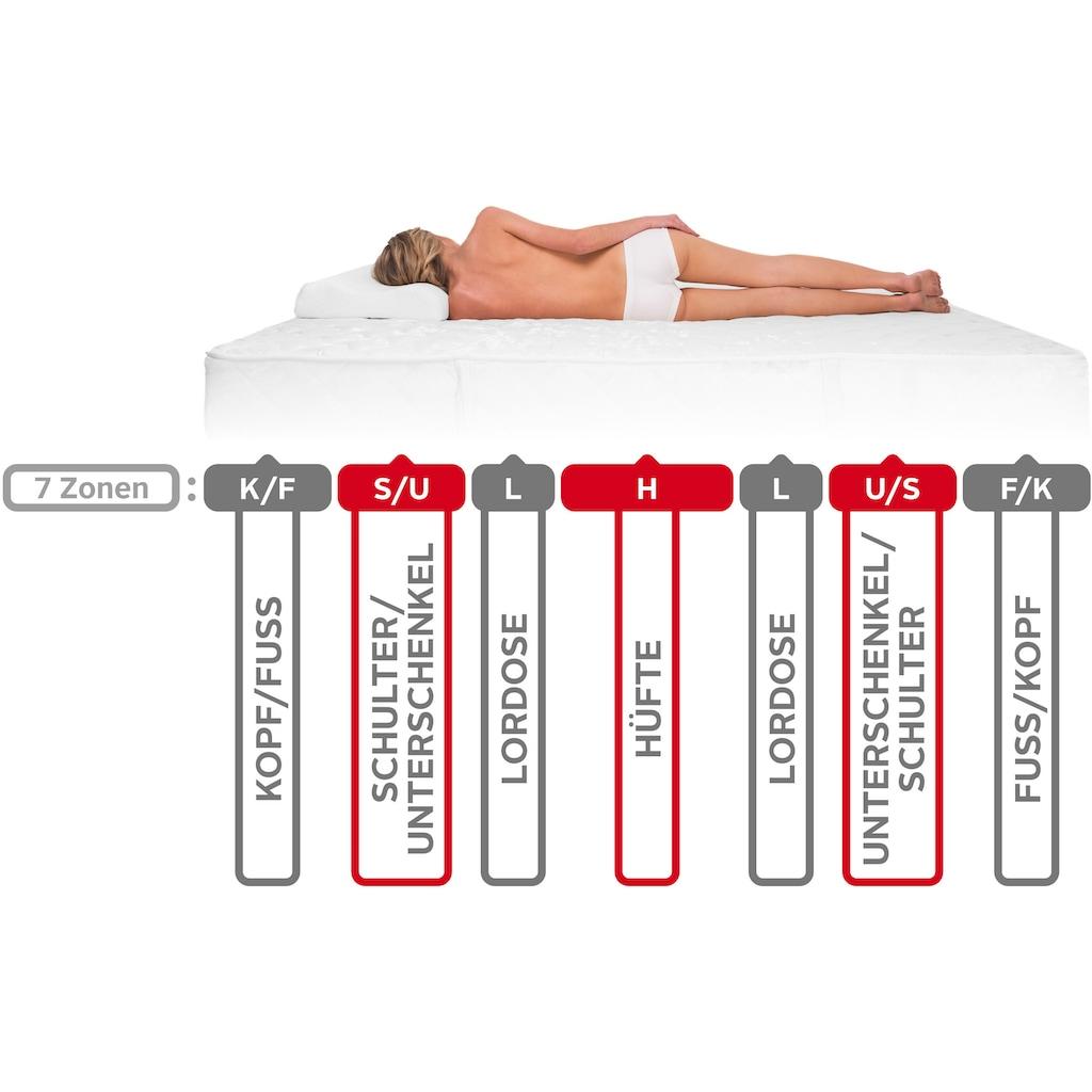 fan Schlafkomfort Exklusiv Taschenfederkernmatratze »Punktoflex De Luxe T«, 22 cm cm hoch, 544 Federn, (1 St.), Natürlicher Schutz gegen Milben