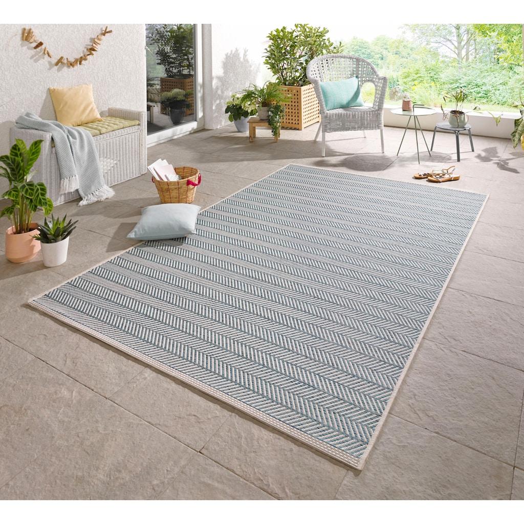 bougari Teppich »Caribbean«, rechteckig, 4 mm Höhe, Flachgewebe, In- und Outdoor geeignet, Wohnzimmer