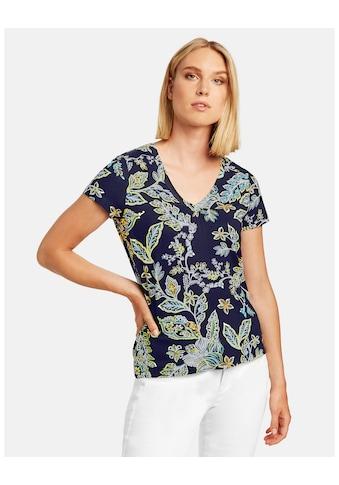 Taifun T - Shirt Kurzarm Rundhals »T - Shirt mit V - Ausschnitt« kaufen