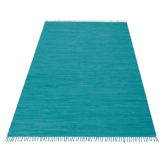 Teppich, »Handweb Uni«, Home affaire, rechteckig, Höhe 5 mm, handgewebt