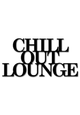 """Home affaire Wandbild »Schriftzug """"Chill out Lounge""""«, Schriftzug, Masse (B/H): 60/30 cm kaufen"""