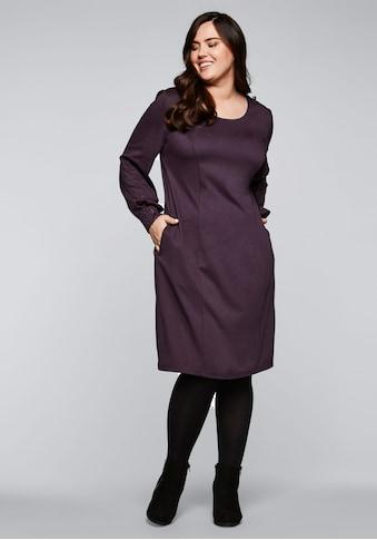 Sheego Jerseykleid, mit kontrastfarbenem Folienprint kaufen