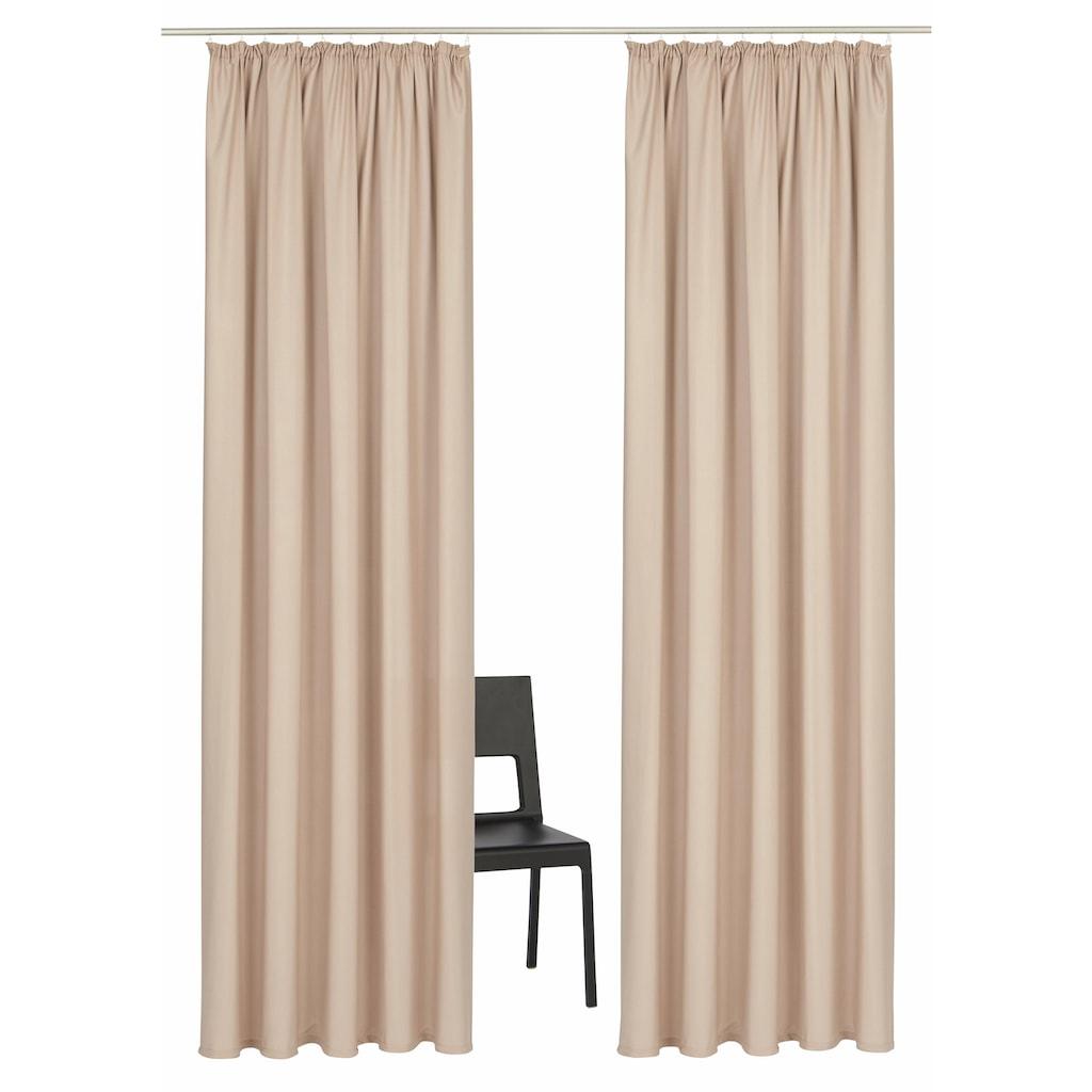 Vorhang, »Parry«, Home affaire, Kräuselband 2 Stück