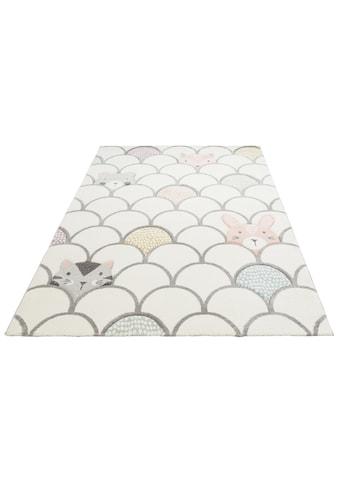Lüttenhütt Kinderteppich »Gila«, rechteckig, 13 mm Höhe, Pastellfarben kaufen
