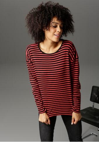 Aniston CASUAL Langarmshirt, mit trendfarbenen Ringeln kaufen