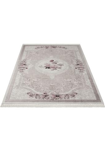 merinos Teppich »Sunshine 1055«, rechteckig, 3 mm Höhe, Besonders weich durch Microfaser, Wohnzimmer kaufen