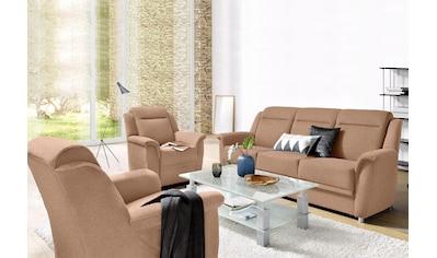 sit&more Polstergarnitur, mit Bettfunktion und Bettkasten im 3-Sitzer und Federkern kaufen