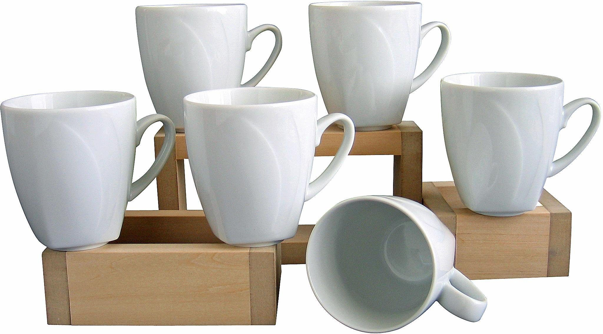 Image of 6 Kaffeebecher, »Celebration«, in weiss