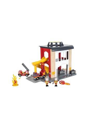 BRIO® Spielzeugeisenbahn-Gebäude »BRIO® WORLD Grosse Feuerwehrstation mit Einsatzfahrzeug« kaufen