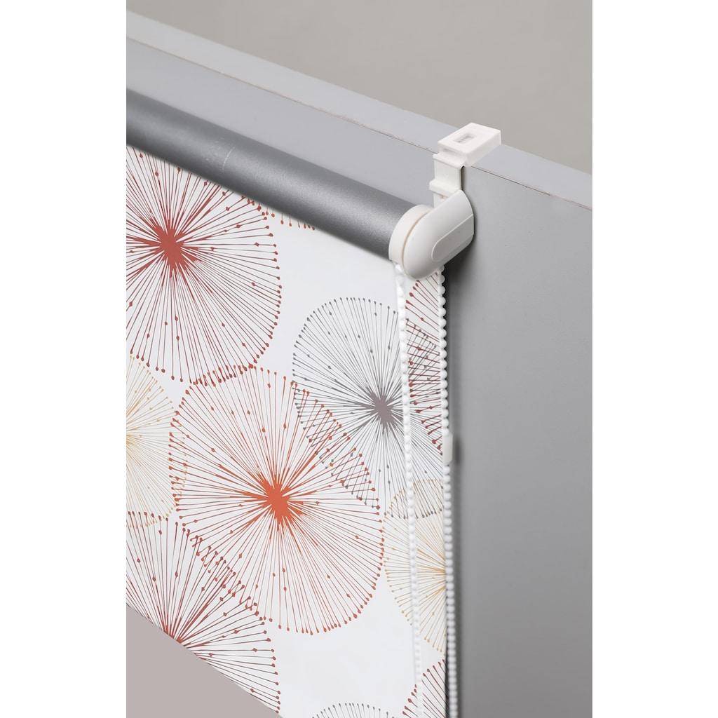 my home Seitenzugrollo »Circle«, verdunkelnd, ohne Bohren, freihängend, Hitzeschutz