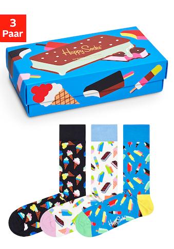 Happy Socks Socken »Ice Cream«, (Box, 3 Paar), in lustiger Geschenkbox kaufen