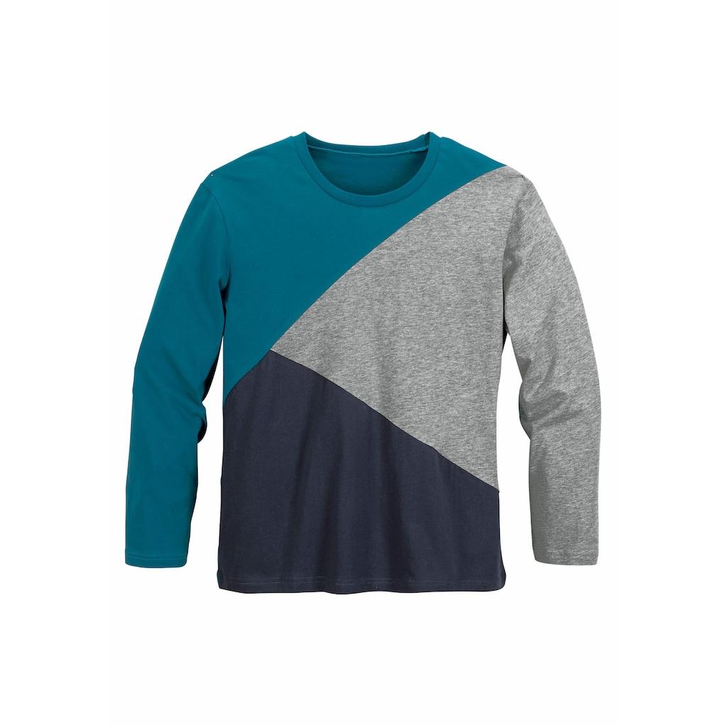 le jogger® Pyjama, für Jungs im Colourblock-Design