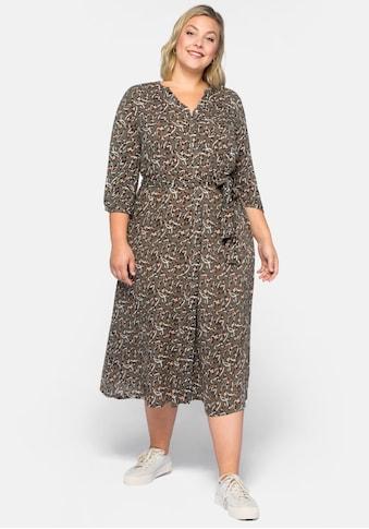 Sheego Blusenkleid, mit Alloverdruck kaufen