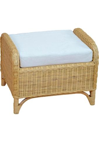 Home affaire Sitzhocker (Rattanhocker mit Kissenauflage) kaufen