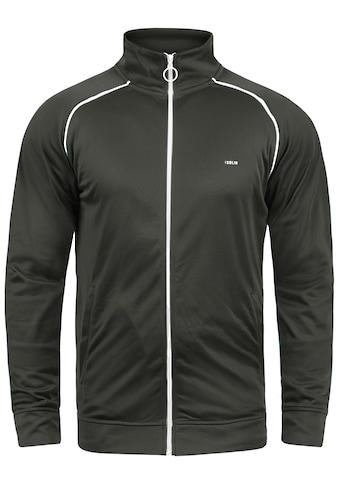 Solid Trainingsjacke »Leander«, Sweatshirtjacke mit weissem Reissverschluss kaufen