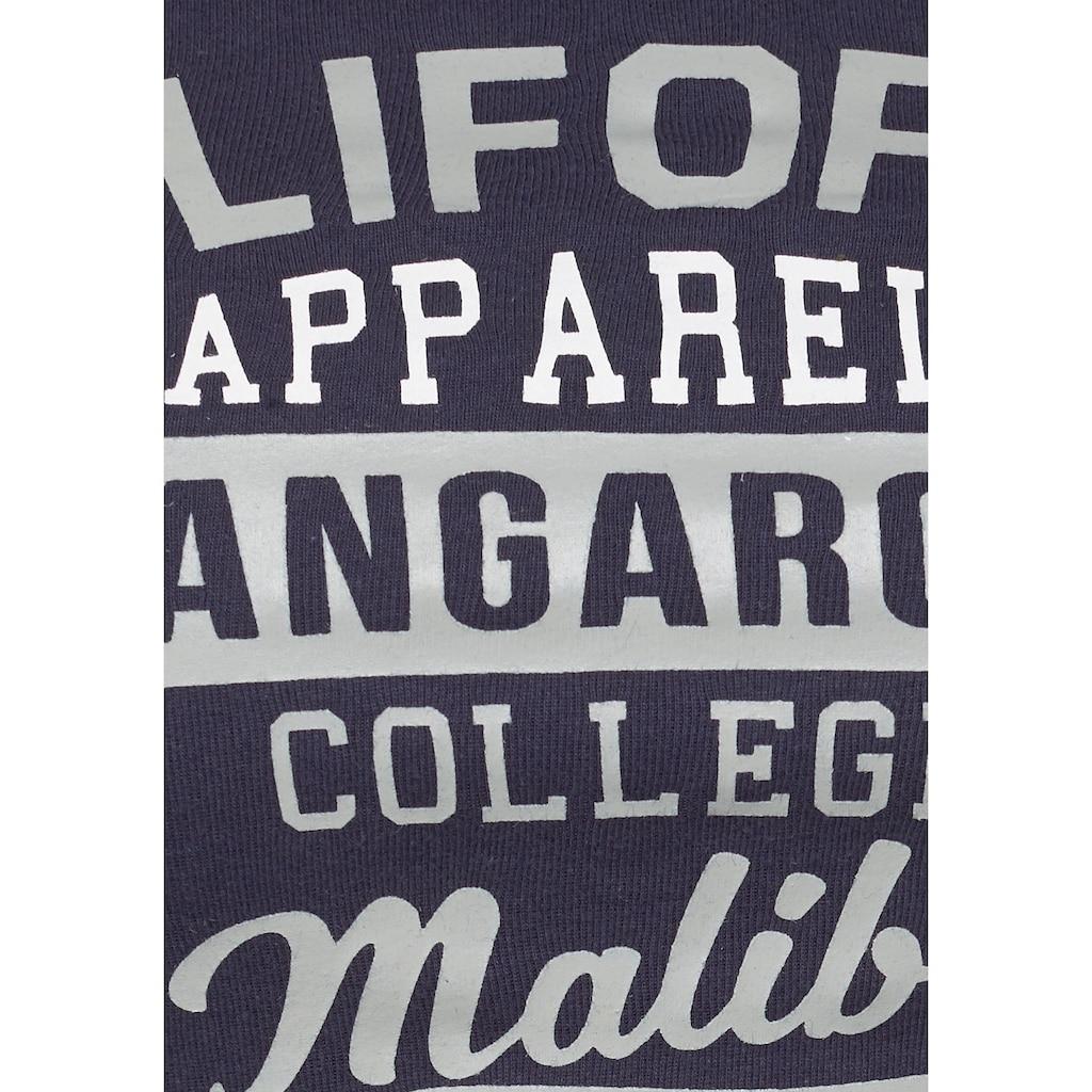 KangaROOS Longsleeve, mit grossem Label-Print vorne