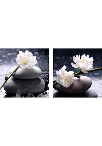 Leinwandbild »Flower«, 2x 40/40 cm kaufen