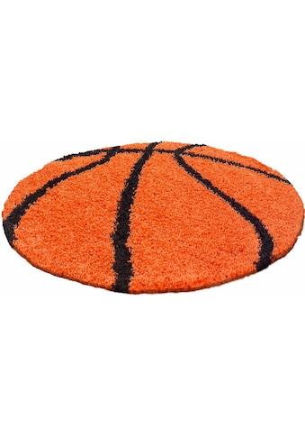 Ayyildiz Kinderteppich »Fun 6002«, rund, 30 mm Höhe, Basketball Motiv kaufen