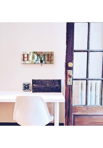 Artland Schlüsselbrett »Buntes zu Hause in taktvollen Farben«, aus Holz mit 4... kaufen