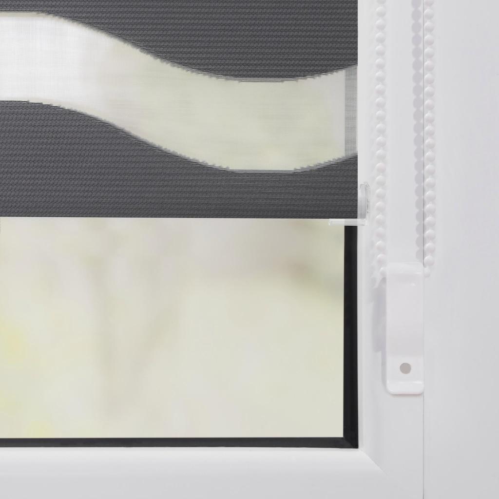 LICHTBLICK Doppelrollo »Duo Rollo Klemmfix Welle«, Lichtschutz, ohne Bohren, im Fixmass