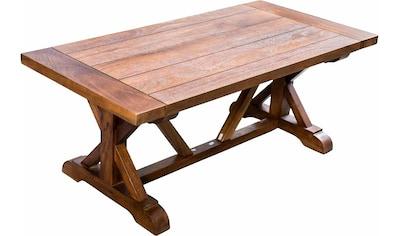 Home affaire Esstisch »Versailles«, mit eingearbeiteten Schnitten in der Tischplatte und gekreuzten Beinen kaufen