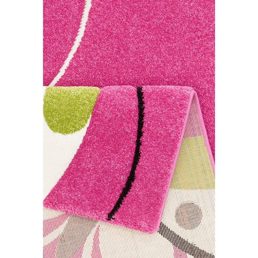 merinos Kinderteppich »GARTEMPE«, rechteckig, 13 mm Höhe, Schmetterlinge, handgearbeiteter Konturenschnitt