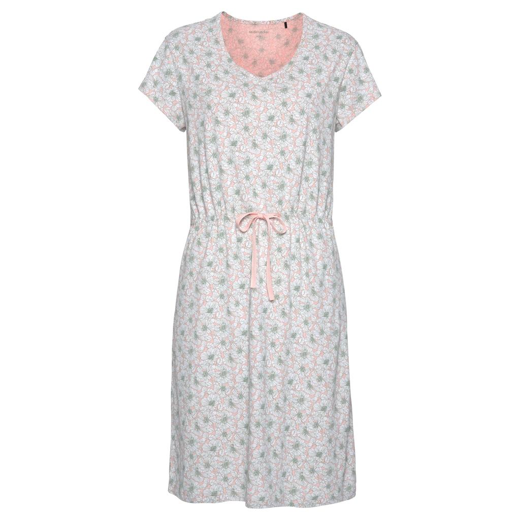 seidensticker Sleepshirt, im Klatschmohn-Muster mit Taillenband