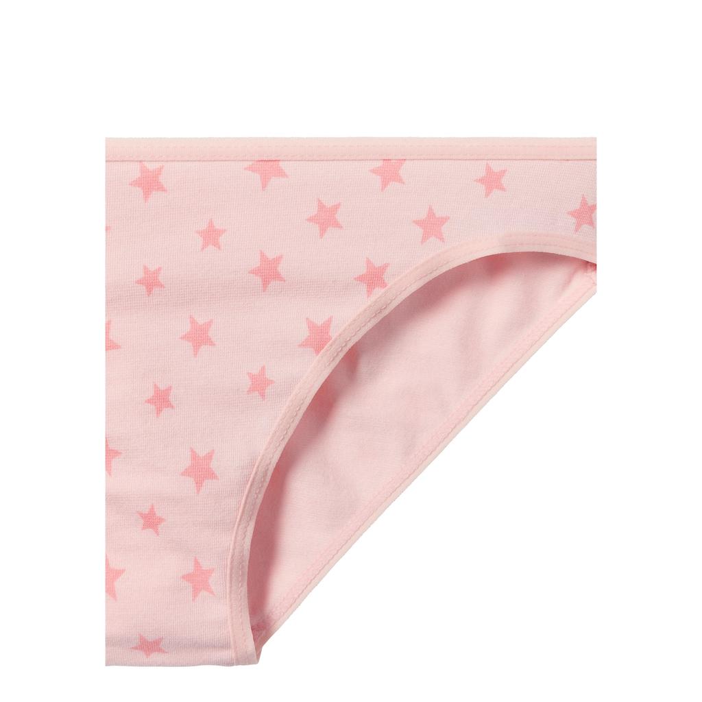 petite fleur Bikinislip, mit Sternen-Print oder unifarbenem Design