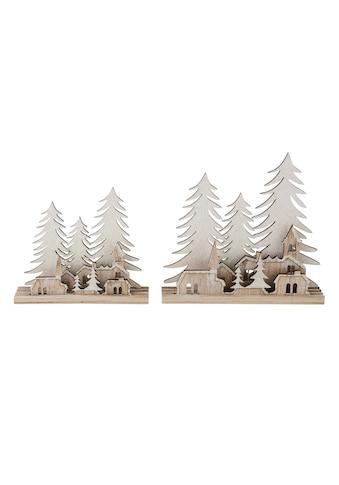 Dekoobjekt »Winterwald-Silhouette«, mit Glitter kaufen