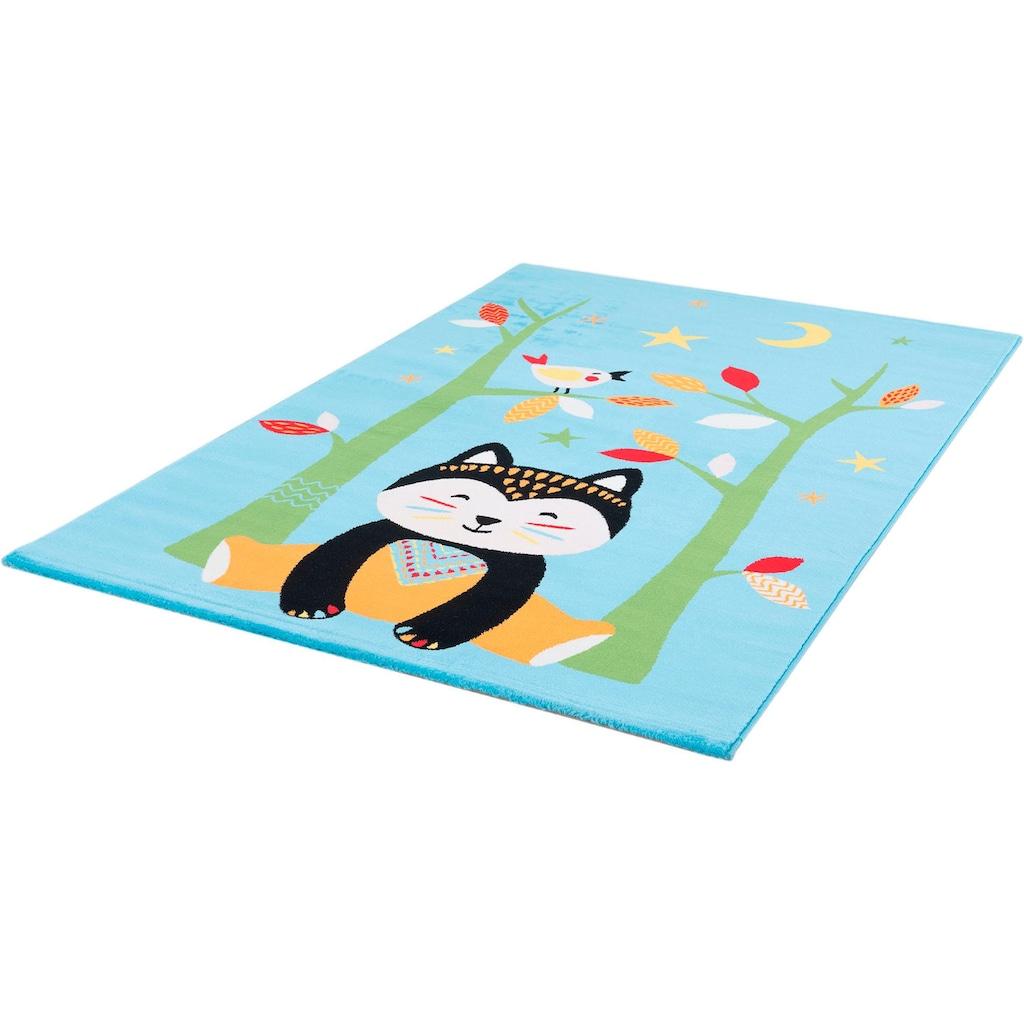 Sanat Kinderteppich »Bambino 2109«, rechteckig, 12 mm Höhe, bunter Kinder Kurzflorteppich