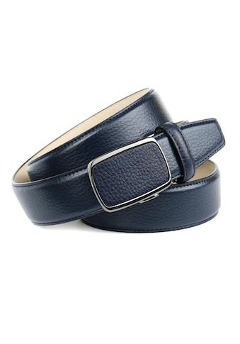 Anthoni Crown Ledergürtel, Eleganter Gürtel in Hirschprägung kaufen