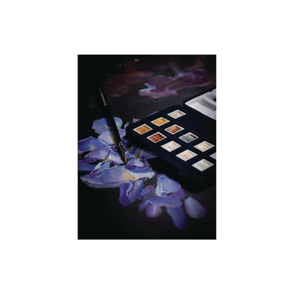Aquarellfarbe »Pocket Box 12 Näpfchen, Mehrfarbig«