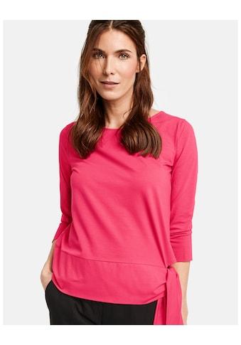 GERRY WEBER T - Shirt 3/4 Arm »3/4 Arm Shirt mit Schleifendetail« kaufen