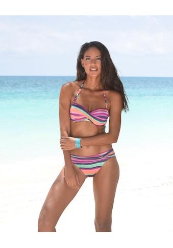 LASCANA Bandeau-Bikini-Top »Rainbow«, mit 5 Tragevariationen kaufen
