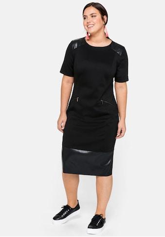 Sheego Jerseykleid, im Materialmix kaufen