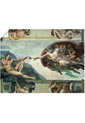 Artland Wandbild »Die Erschaffung des Adam«, Religion, (1 St.) kaufen