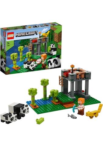 LEGO® Konstruktionsspielsteine »Der Panda-Kindergarten (21158), LEGO® Minecraft™«, (204 St.), Made in Europe kaufen