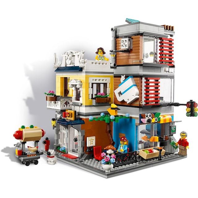 """LEGO® Konstruktionsspielsteine """"Stadthaus mit Zoohandlung & Café (31097), LEGO® Creator"""", Kunststoff, (969-tlg.)"""