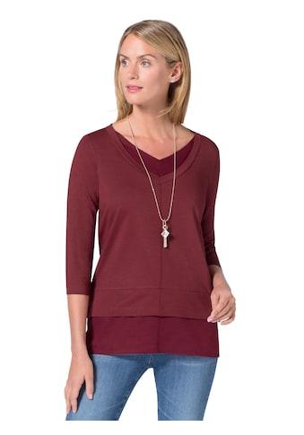 Ambria Longshirt in 2 - in - 1 - Optik kaufen