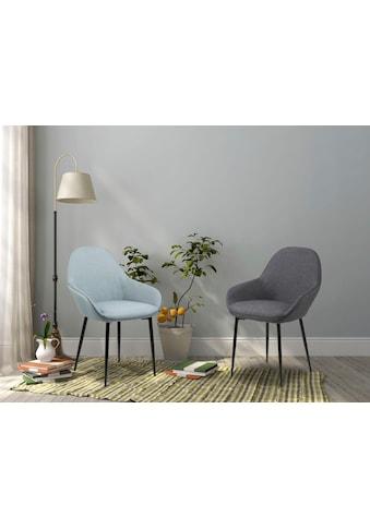 andas Esszimmerstuhl »Carla«, 2er Set, in zwei unterschiedlichen Bezugsqualitäten, mit Metallbeinen, Sitzhöhe 47 cm kaufen