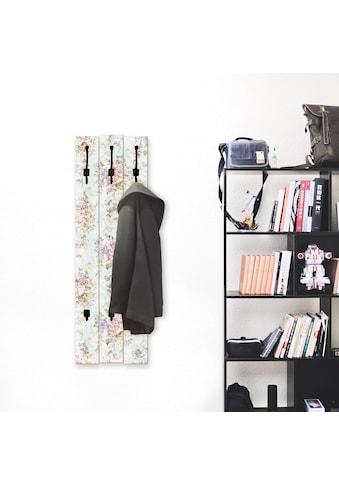 Artland Garderobenpaneel »Blumen mit nahtlosem Muster«, platzsparende Wandgarderobe... kaufen