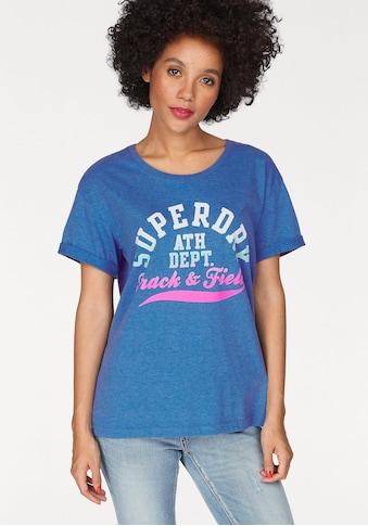 Superdry T - Shirt »TRACKSTER SLIM BF TEE« kaufen