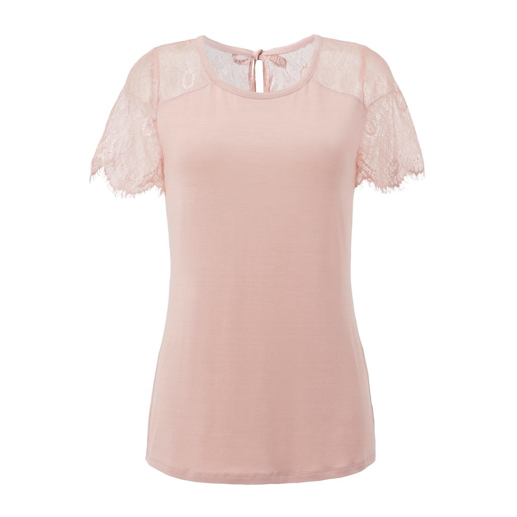 Aniston SELECTED Spitzenshirt, mit Bindeband im Nacken - NEUE KOLLEKTION