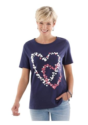 Classic Basics Shirt mit hübschen Herz - Motiven kaufen