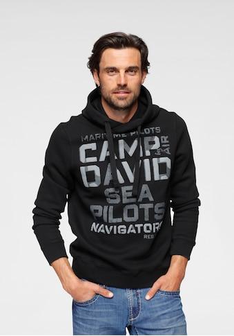 CAMP DAVID Kapuzensweatshirt, mit Logoschriftzug kaufen