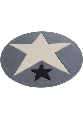 Rock STAR Baby Teppich »707«, rund, 10 mm Höhe, handgearbeiteter Konturenschnitt kaufen